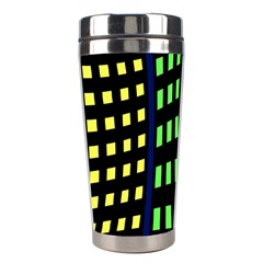 Colorful abstract city landscape Stainless Steel Travel Tumblers