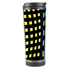 Colorful abstract city landscape Travel Tumbler