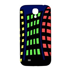 Colorful abstract city landscape Samsung Galaxy S4 I9500/I9505  Hardshell Back Case