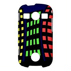 Colorful abstract city landscape Samsung Galaxy S7710 Xcover 2 Hardshell Case