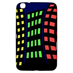Colorful abstract city landscape Samsung Galaxy Tab 3 (8 ) T3100 Hardshell Case