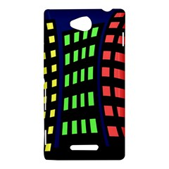 Colorful abstract city landscape Sony Xperia C (S39H)