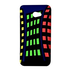 Colorful abstract city landscape HTC Butterfly S/HTC 9060 Hardshell Case