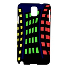 Colorful abstract city landscape Samsung Galaxy Note 3 N9005 Hardshell Case