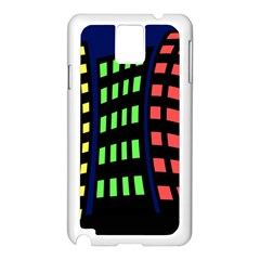 Colorful abstract city landscape Samsung Galaxy Note 3 N9005 Case (White)