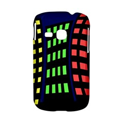 Colorful abstract city landscape Samsung Galaxy S6310 Hardshell Case