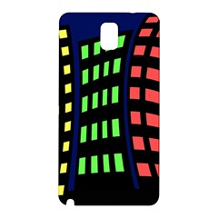 Colorful abstract city landscape Samsung Galaxy Note 3 N9005 Hardshell Back Case