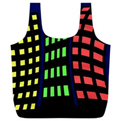 Colorful abstract city landscape Full Print Recycle Bags (L)