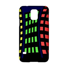 Colorful abstract city landscape Samsung Galaxy S5 Hardshell Case