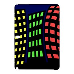 Colorful abstract city landscape Samsung Galaxy Tab Pro 12.2 Hardshell Case
