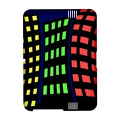 Colorful abstract city landscape Amazon Kindle Fire (2012) Hardshell Case