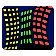 Colorful abstract city landscape Double Sided Flano Blanket (Small)