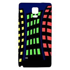 Colorful abstract city landscape Galaxy Note 4 Back Case