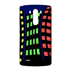 Colorful abstract city landscape LG G3 Back Case