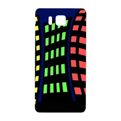 Colorful abstract city landscape Samsung Galaxy Alpha Hardshell Back Case