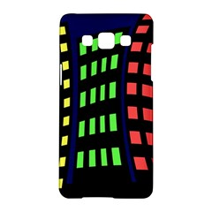 Colorful abstract city landscape Samsung Galaxy A5 Hardshell Case