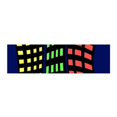Colorful abstract city landscape Satin Scarf (Oblong)