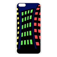 Colorful abstract city landscape Apple Seamless iPhone 6 Plus/6S Plus Case (Transparent)