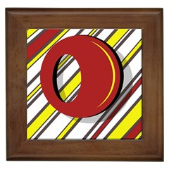 Red and yellow design Framed Tiles