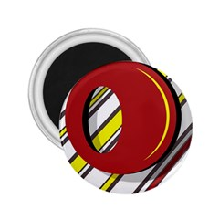 Red and yellow design 2.25  Magnets