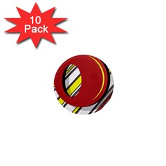 Red and yellow design 1  Mini Magnet (10 pack)