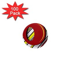 Red and yellow design 1  Mini Magnets (100 pack)