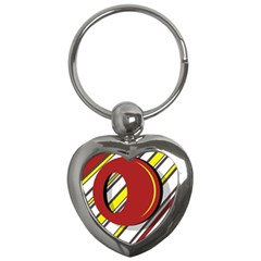 Red and yellow design Key Chains (Heart)