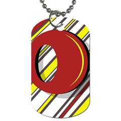 Red and yellow design Dog Tag (Two Sides)