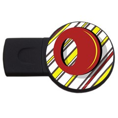 Red and yellow design USB Flash Drive Round (2 GB)