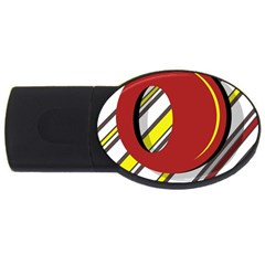 Red and yellow design USB Flash Drive Oval (1 GB)