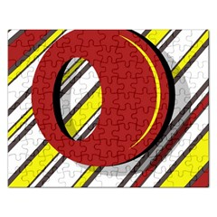 Red and yellow design Rectangular Jigsaw Puzzl