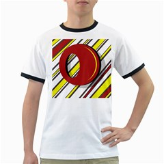 Red and yellow design Ringer T-Shirts