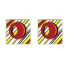 Red and yellow design Cufflinks (Square)