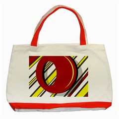 Red and yellow design Classic Tote Bag (Red)