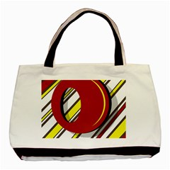 Red and yellow design Basic Tote Bag (Two Sides)