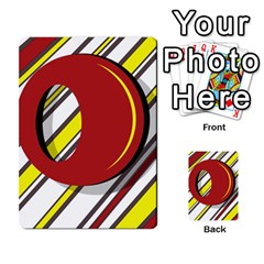 Red and yellow design Multi-purpose Cards (Rectangle)