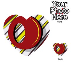 Red and yellow design Multi-purpose Cards (Heart)