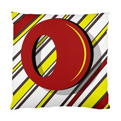 Red and yellow design Standard Cushion Case (One Side)
