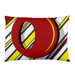 Red and yellow design Pillow Case