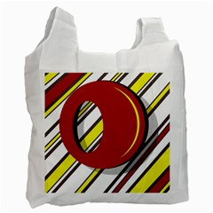 Red and yellow design Recycle Bag (One Side)