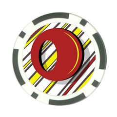 Red and yellow design Poker Chip Card Guards (10 pack)