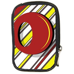 Red and yellow design Compact Camera Cases