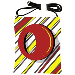 Red and yellow design Shoulder Sling Bags