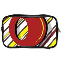 Red and yellow design Toiletries Bags 2-Side