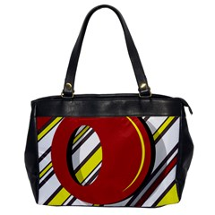 Red and yellow design Office Handbags