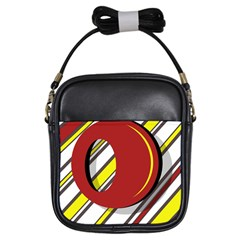 Red and yellow design Girls Sling Bags