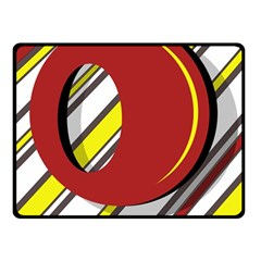 Red and yellow design Fleece Blanket (Small)