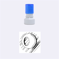 Red and yellow design Rubber Round Stamps (Small)