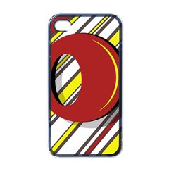 Red and yellow design Apple iPhone 4 Case (Black)