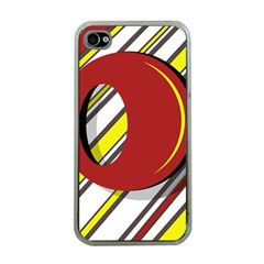 Red and yellow design Apple iPhone 4 Case (Clear)
